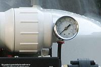 reverse osmosis system tap water pressure gauge